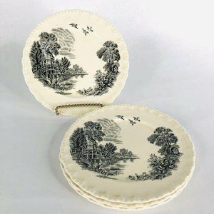 4 WH Grindley Transferware Bread Butter Plates